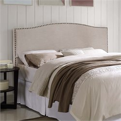 Lifestyle Solutions Dover Upholstered Queen Headboard in Ivory