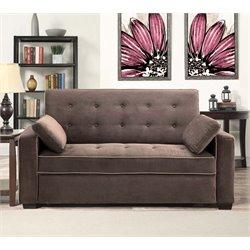 Lifestyle Solutions Monroe Convertible Queen Sofa in Java