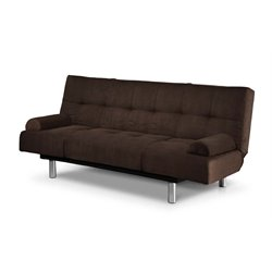 Serta Jamerson Faux Leather Convertible Sofa in Java