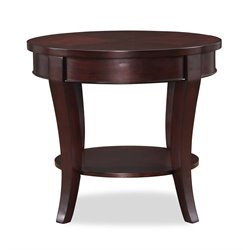 Lifestyle Solutions Crystal Cove Round End Table in Cappuccino
