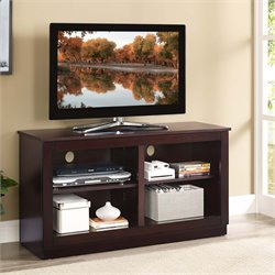 Lifestyle Solutions Aliso Folding TV Stand in Cappuccino