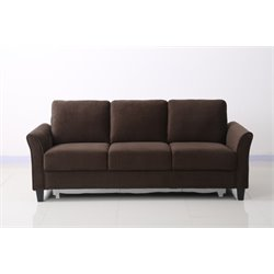 Lifestyle Solutions New Haven Sofa in Coffee