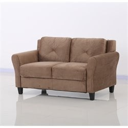 Lifestyle Solutions Norwalk Loveseat in Brown