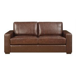Lifestyle Solutions Savion Leather Sofa in Java