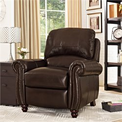 Relaxalounger Modo Pushback Recliner in Cherry Espresso