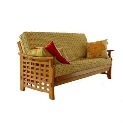 Lifestyle Solutions Manila Futon Frame - Full in Dark Cherry