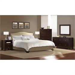 LifeStyle Solutions Magnolia Platform Bed 5 Piece Bedroom Set - California King