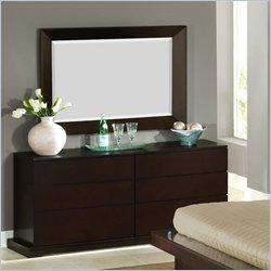 Lifestyle Solutions Zurich 6 Drawer Double Dresser and Mirror Set