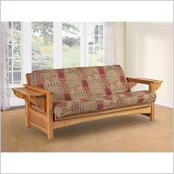 LifeStyle Solutions Townsend Solid Futon Frame in Natural Oak - Full