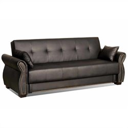 Lifestyle Solutions Serta Dream Convertible Sofa in Avanzo Java
