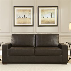 Lifestyle Solutions Bari Leather Sofa in Java