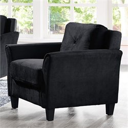 Lifestyle Solutions Hartford Microfiber Chair in Black