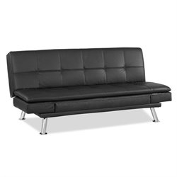 Lifestyle Solutions Niles Convertible Sofa in Black