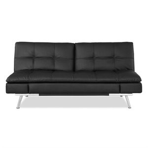 Lifestyle Solutions Matrix Convertible Sofa in Black