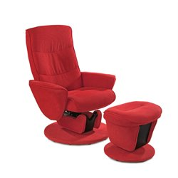 Mac Motion Relax-R Glider Recliner with Ottoman in Red