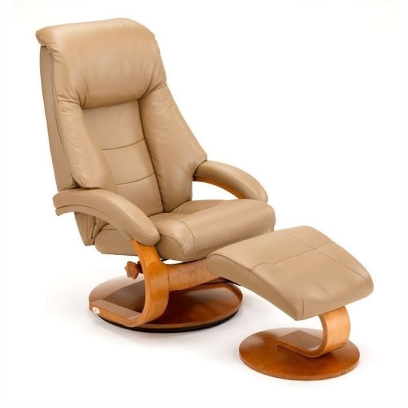 Mac Motion Oslo Leather Recliner in Sand Walnut