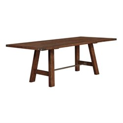 Coaster Arcadia Dining Table with Metal Accents in Weathered Acacia