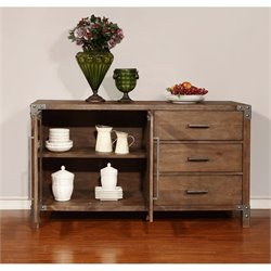 Coaster Arcadia Buffet Table in Weathered Acacia