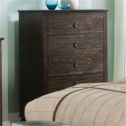 Coaster Saville 5 Drawer Chest in Dark Oak