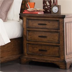 Coaster Elk Grove 3 Drawer Nightstand in Vintage Bourbon