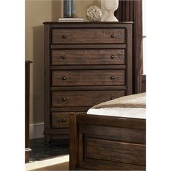 Coaster Laughton 5 Drawer Chest in Cocoa Brown