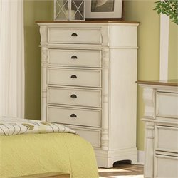 Coaster Oleta 6 Drawer Chest in Buttermilk