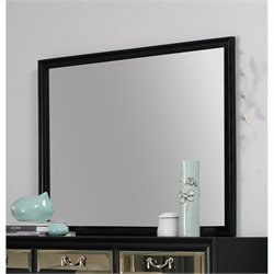 Coaster Devine Beveled Mirror in Black