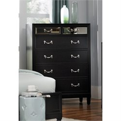 Coaster Devine 6 Drawer Chest in Black
