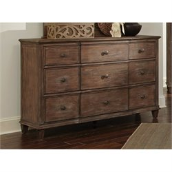 Coaster Dalgarno 9 Drawer Dresser in Wire Brushed Mushroom