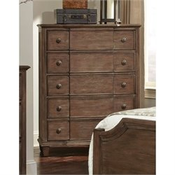 Coaster Dalgarno 5 Drawer Chest in Wire Brushed Mushroom