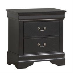 Coaster Louis Philippe 2 Drawer Nightstand in Black