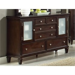 Coaster Camellia 5 Drawer 2 Door Dresser in Cappuccino