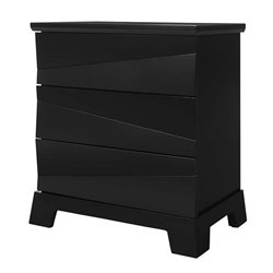 Coaster Karolina 3 Drawer Nightstand in Black