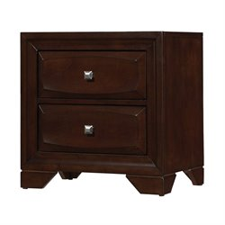 Coaster Jaxson 2 Drawer Nightstand in Cappuccino