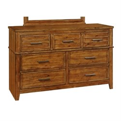 Coaster Cupertino 7 Drawer Dresser in Antique Amber