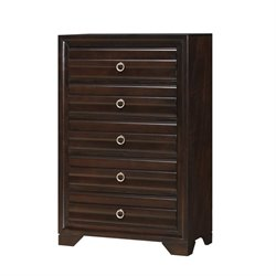 Coaster Bryce 5 Drawer Chest in Cappuccino