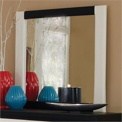 Coaster Kimball Upholstered Mirror in White and Black