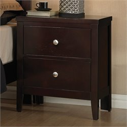 Coaster Carlton 2 Drawer Nightstand in Cappuccino