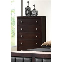 Coaster Carlton 5 Drawer Chest in Cappuccino