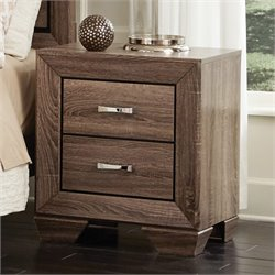 Coaster Kauffman 2 Drawer Nightstand in Washed Taupe