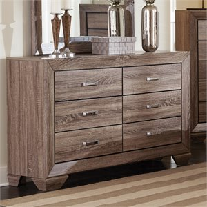 Coaster Kauffman 6 Drawer Dresser in Washed Taupe