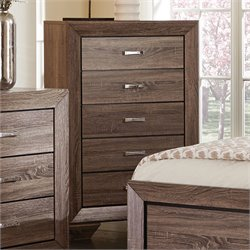 Coaster Kauffman 5 Drawer Chest in Washed Taupe