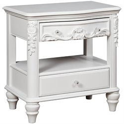 Coaster Caroline 2 Drawer Nightstand in White