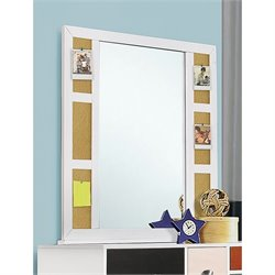 Coaster Lemoore Pinboard Mirror in White