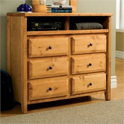 Coaster Wrangle Hill 6 Drawer Dresser in Amber Wash