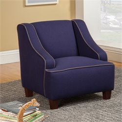 Coaster Lucas Upholstered Kids Chair in Royal Blue