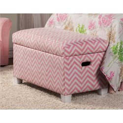 Coaster Charlotte Storage Bedroom Bench in Pink and White