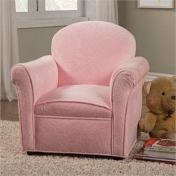 Coaster Charlotte Upholstered Kids Chair in Pink