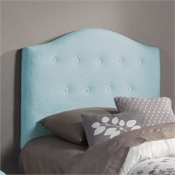 Coaster Isaac Twin Tufted Upholstered Headboard in Baby Blue