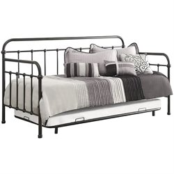 Coaster Twin Metal Daybed with Trundle in Dark Bronze